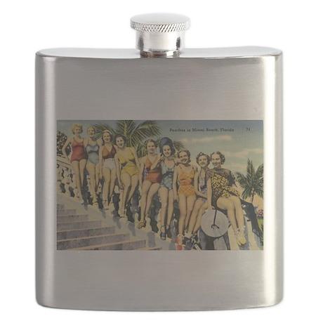 Retro Summer Beauties Flask