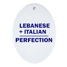 Lebanese + Italian Oval Ornament