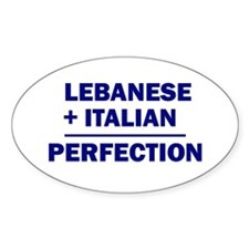 Lebanese + Italian Oval Decal