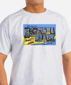 Daytona Beach Florida Greetings (Front) Ash Grey T