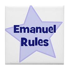Emanuel Rules Tile Coaster