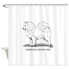 American Eskimo Dog Shower Curtain