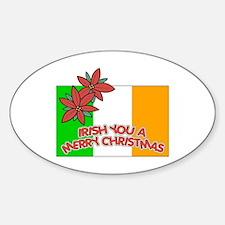 Irish Christmas Oval Decal