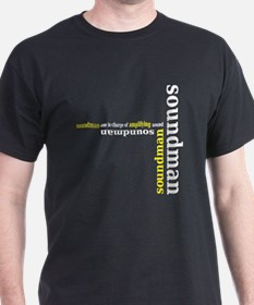 Black Soundman T-shirt (yellow)