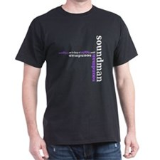 Black Soundman T-shirt (purple)