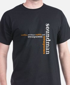 Black Soundman T-shirt (orange)