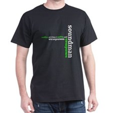 Black Soundman T-shirt (green)