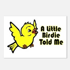 """""""A Little Birdie Told Me"""" Postcards (Package of 8)"""