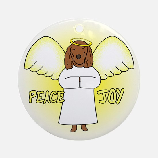 Peace Joy Irish Setter Christmas Ornament