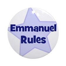Emmanuel Rules Ornament (Round)