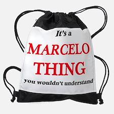 Funny Marcelo Drawstring Bag