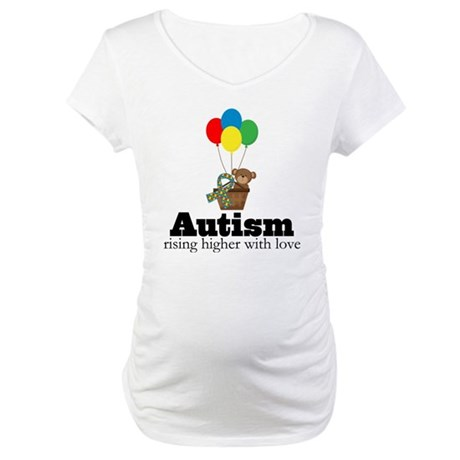 Teddy Bear Autism Quote Maternity T-Shirt