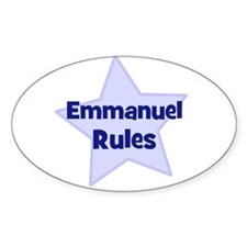 Emmanuel Rules Oval Decal