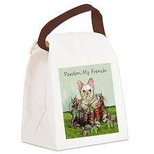Pardon My French Bulldog Canvas Lunch Bag
