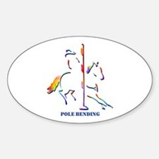 Pole Bending Oval Decal