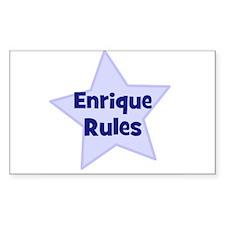 Enrique Rules Rectangle Bumper Stickers