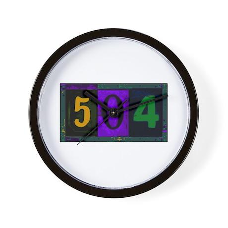 NOLA 504 Wall Clock