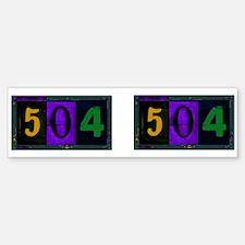 NOLA 504 Bumper Bumper Bumper Sticker