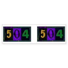 NOLA 504 Bumper Bumper Sticker