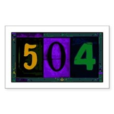 NOLA 504 Rectangle Decal