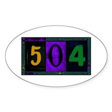 NOLA 504 Oval Decal