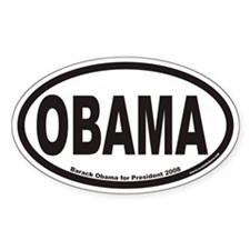 Obama For President Euro Oval Decal