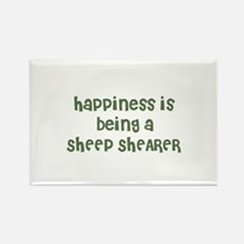 Happiness is being a SHEEP SH Rectangle Magnet