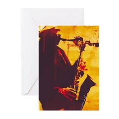 Jazz Player Greeting Cards (Pk of 10)