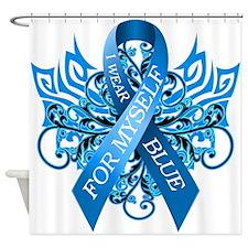 I Wear Blue for Myself Shower Curtain