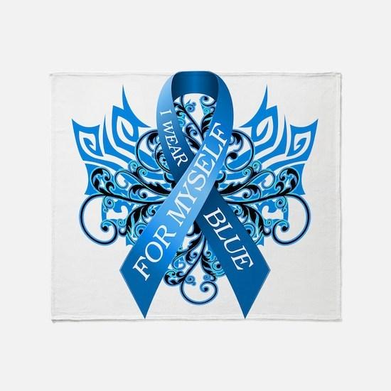 I Wear Blue for Myself Throw Blanket