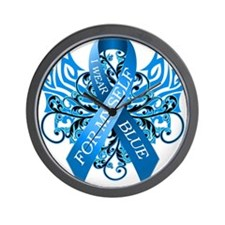 I Wear Blue for Myself Wall Clock