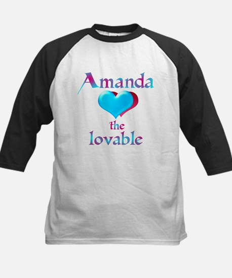 Amanda the lovable Kids Baseball Jersey