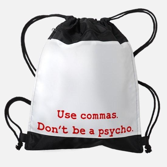 Cooking Psycho Commas Drawstring Bag