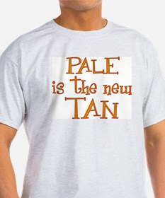 """""""Pale is the new tan"""" Ash Grey T-Shirt"""