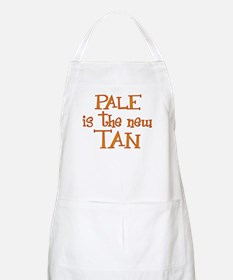 """Pale is the new tan"" BBQ Apron"