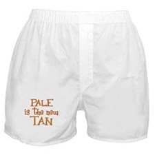 """Pale is the new tan"" Boxer Shorts"