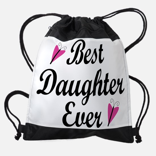 Best Daughter Ever Drawstring Bag