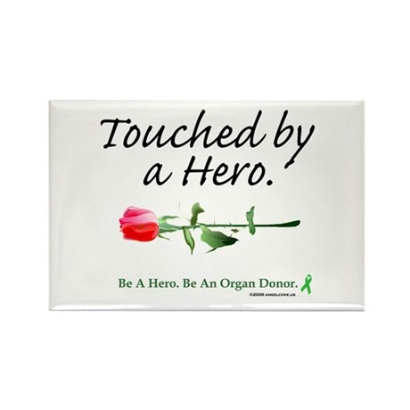 Touched by a Hero Rectangle Magnet (10 pack)