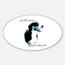 Swissy Warm Heart Oval Decal