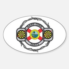 Florida Darts Oval Decal