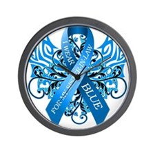 I Wear Blue for my Sister in Law Wall Clock