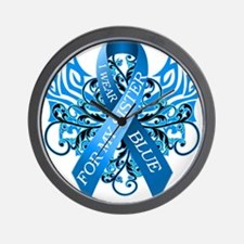 I Wear Blue for my Sister Wall Clock