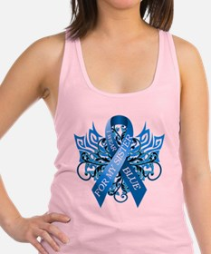 I Wear Blue for my Sister Racerback Tank Top