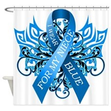 I Wear Blue for my Niece Shower Curtain