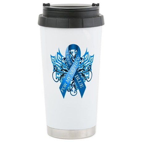 I Wear Blue for my Nephew Travel Mug