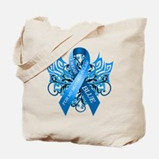 I Wear Blue for my Mother in Law Tote Bag
