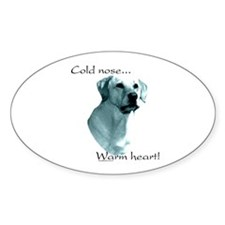 Lab Warm Heart Oval Decal