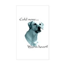 Lab Warm Heart Rectangle Decal