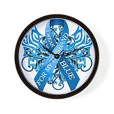 I Wear Blue for my Husband Wall Clock