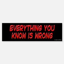 Everything You Know is Wrong Bumper Bumper Bumper Sticker